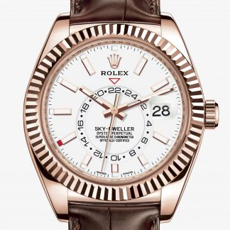 scontato Rolex Sky-Dweller Bianco M326135-0006