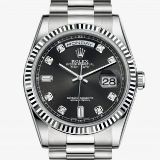 superiore Rolex Day-Date Nero con diamanti M118239-0089