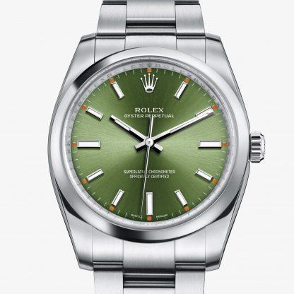 superiore Rolex Oyster Perpetual Verde oliva M114200-0021