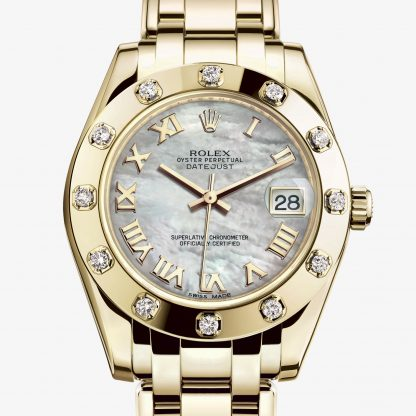 superiore Rolex Pearlmaster Madreperla bianca M81318-0005