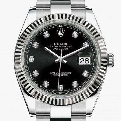 svizzero Rolex Datejust Nero con diamanti M126334-0011