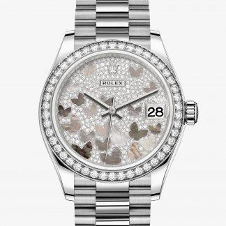 svizzero Rolex Datejust Pavé madreperla farfalle M278289RBR-0008