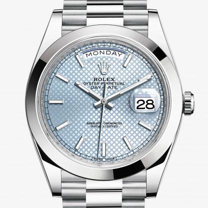 svizzero Rolex Day-Date Blu ghiaccio
