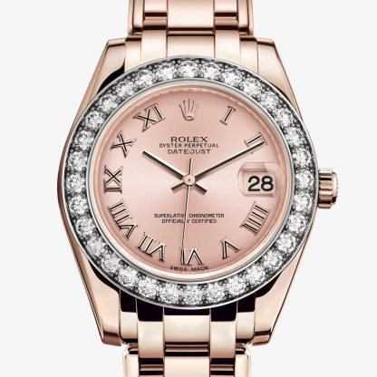 svizzero Rolex Pearlmaster Rosa M81285-0020