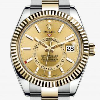 svizzero Rolex Sky-Dweller Color champagne M326933-0001